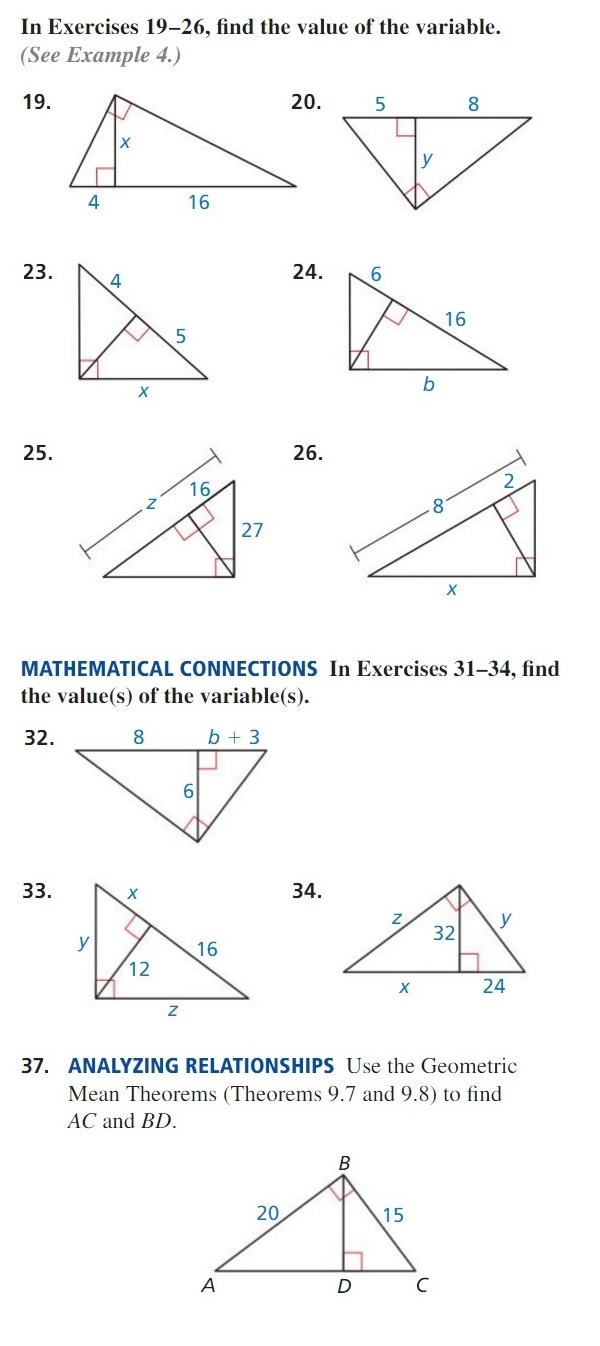 worksheet Special Right Triangles 30 60 90 Worksheet Answers chapter 09 right triangles mr urbancs classroom part 1 answers 2 finding angle measures